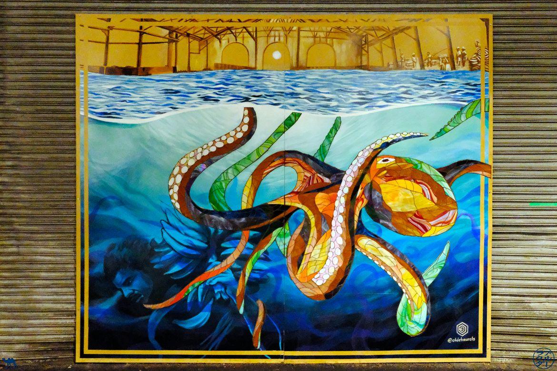 Le Chameau Bleu - Blog Voyage Philadelphia -Street Art Pieuvre