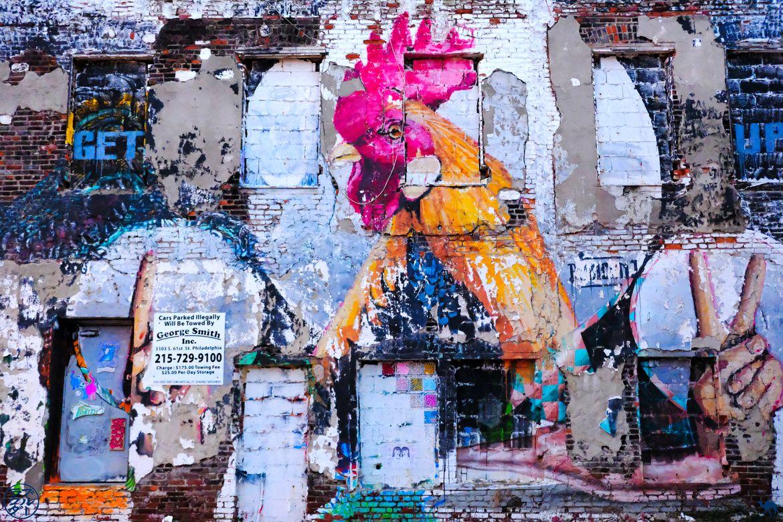 Le Chameau Bleu - Blog Voyage Philadelphia -Street Art Coq