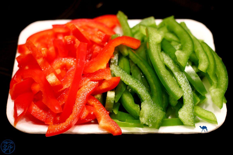 Le Chameau Bleu - Blog Cuisine et Voyage - Poivrons émincés - Cuisine coréenne