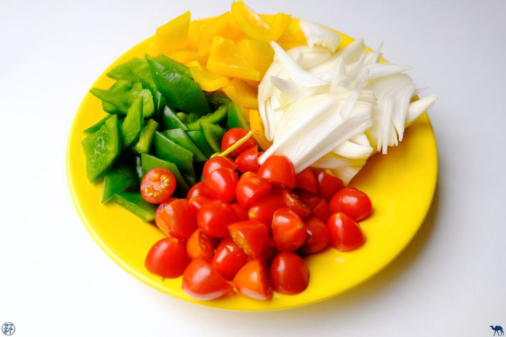 Le Chameau Bleu - Blog Cuisine - Recette de Porc à l'aigre-doux - Légumes