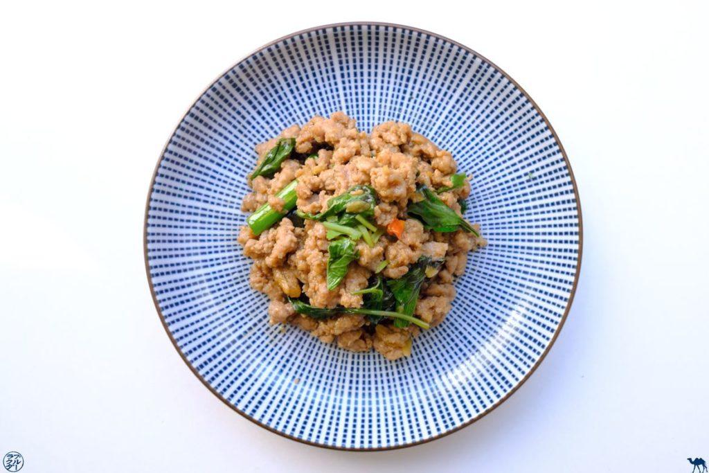 Le Chameau Bleu - Blog Voyage et Gastronomie - Recette de Porc Haché sauté au Basilic Thai
