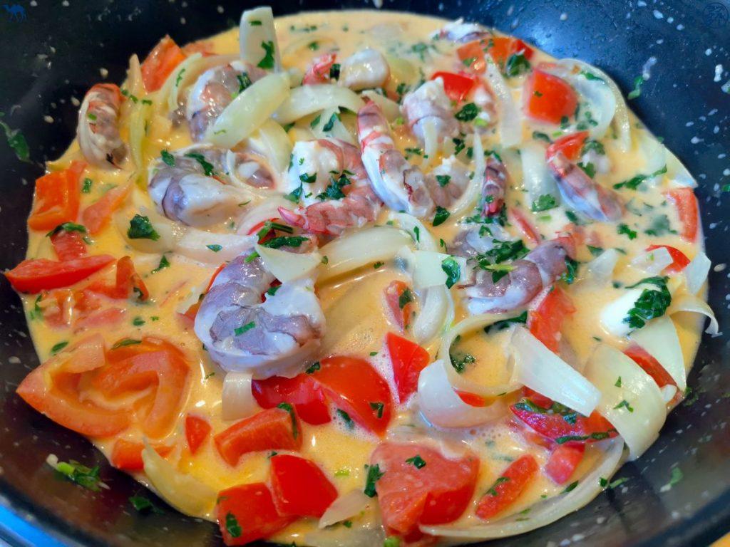 Le Chameau Bleu - Blog Cuisine et Voyage - Préparation du Moqueca de Crevettes