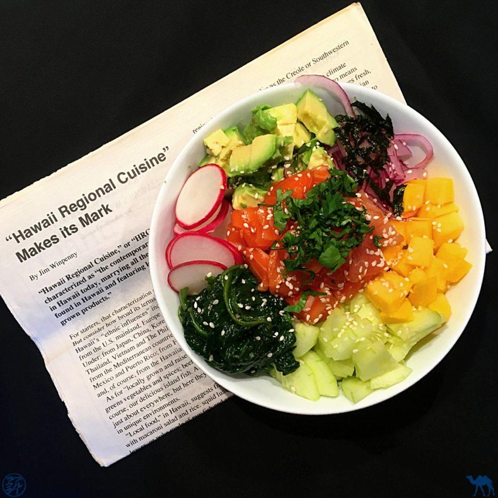 Le Chameau Bleu - Blog Cuisine et Voyage - Recette hawaiienne du Poke Bowl au saumon mariné