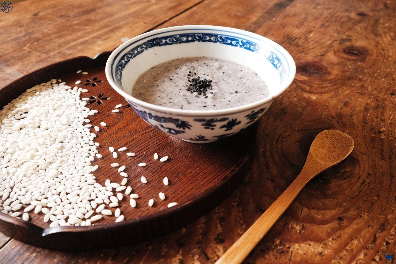 Le Chameau Bleu - Blog Cuisine et Voyage - Recette de Soupe de Riz au Sésame noir