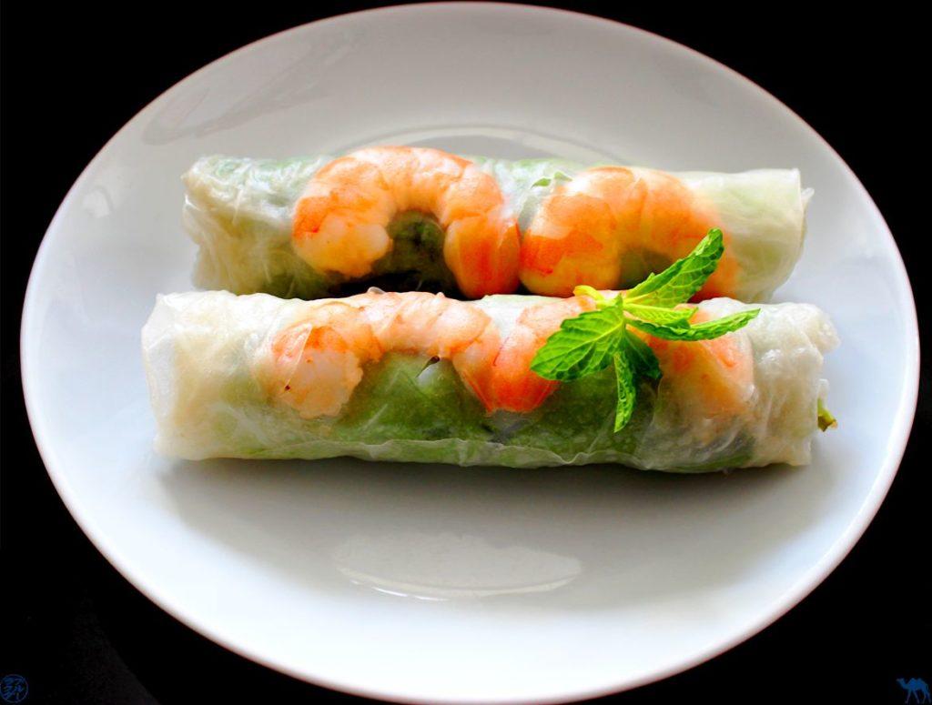 Le Chameau Bleu - Blog Cuisine - Recette maison des Rouleaux de printemps aux crevettes - La Recette