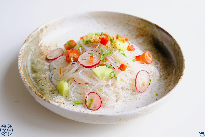 Le Chameau Bleu - Blog de Cuisine et Voyage - Salade de vermicelles de Soja et dés de légume