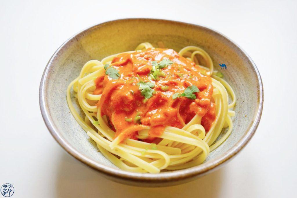 Le Chameau Bleu - Blog Cuisine et Voyage - Recette sauce Pate -Sauce CoCo Tomate Gingembre - Recette