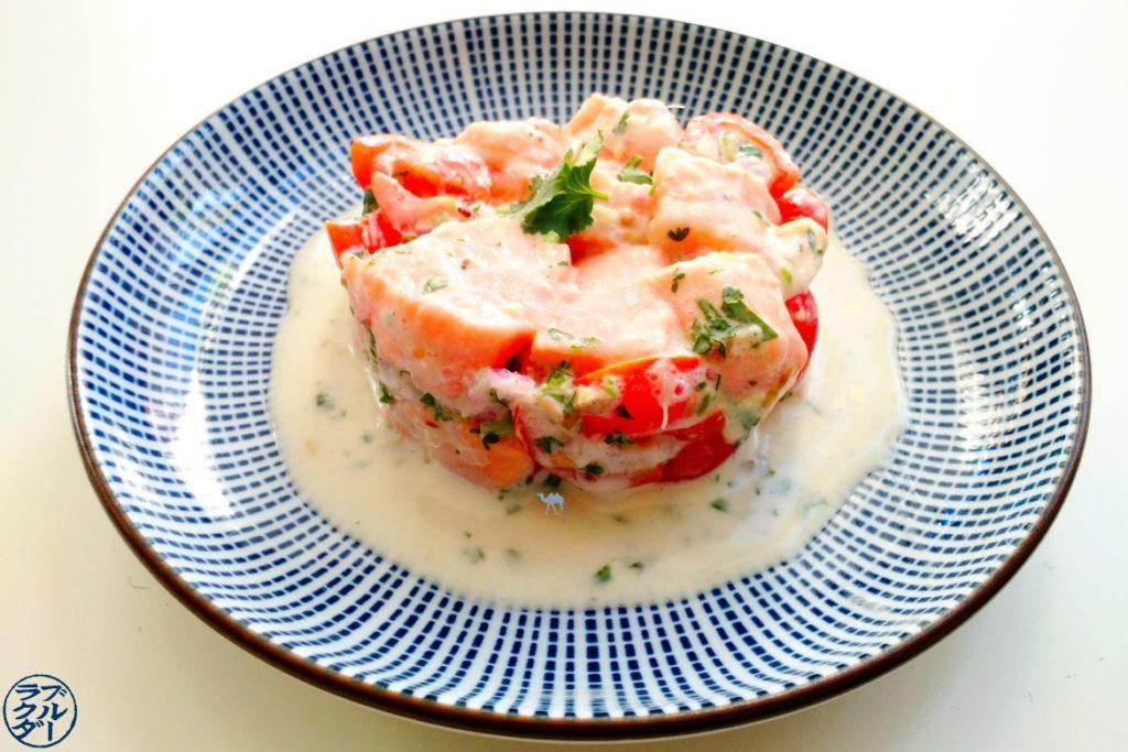 Le Chameau Bleu - Blog Cuisine- Recette de Tartare de Saumon à la tahitienne