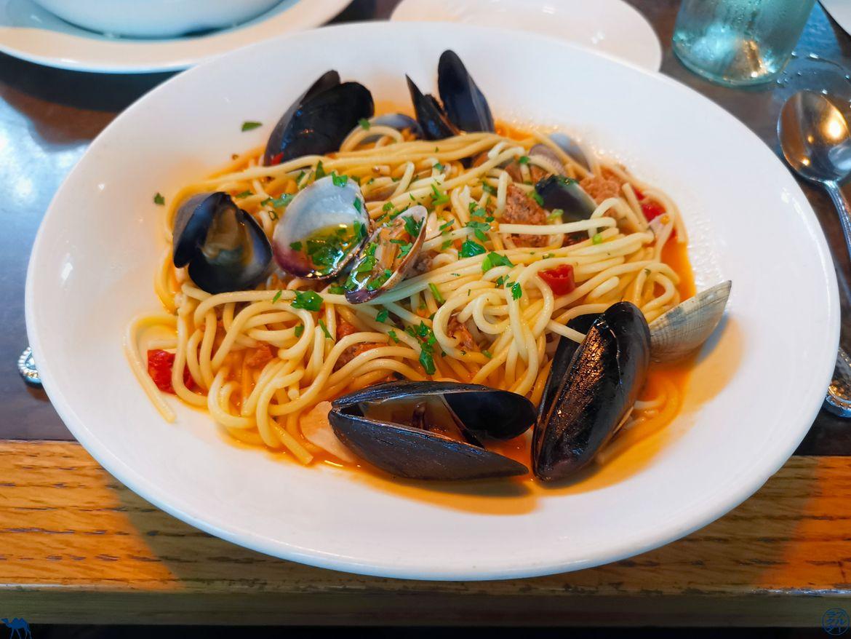 Le Chameau Bleu - Blog Voyage Napa Valley - Spaghettis du Restaurant Brasswood
