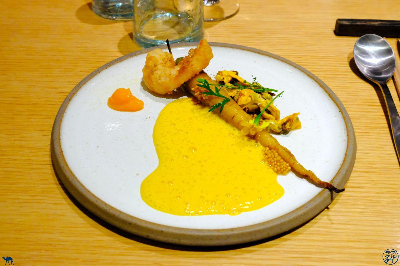 Le Chameau Bleu - Blog Gastronomie et Voyage - Carotte Rôtie et beignet de crevette
