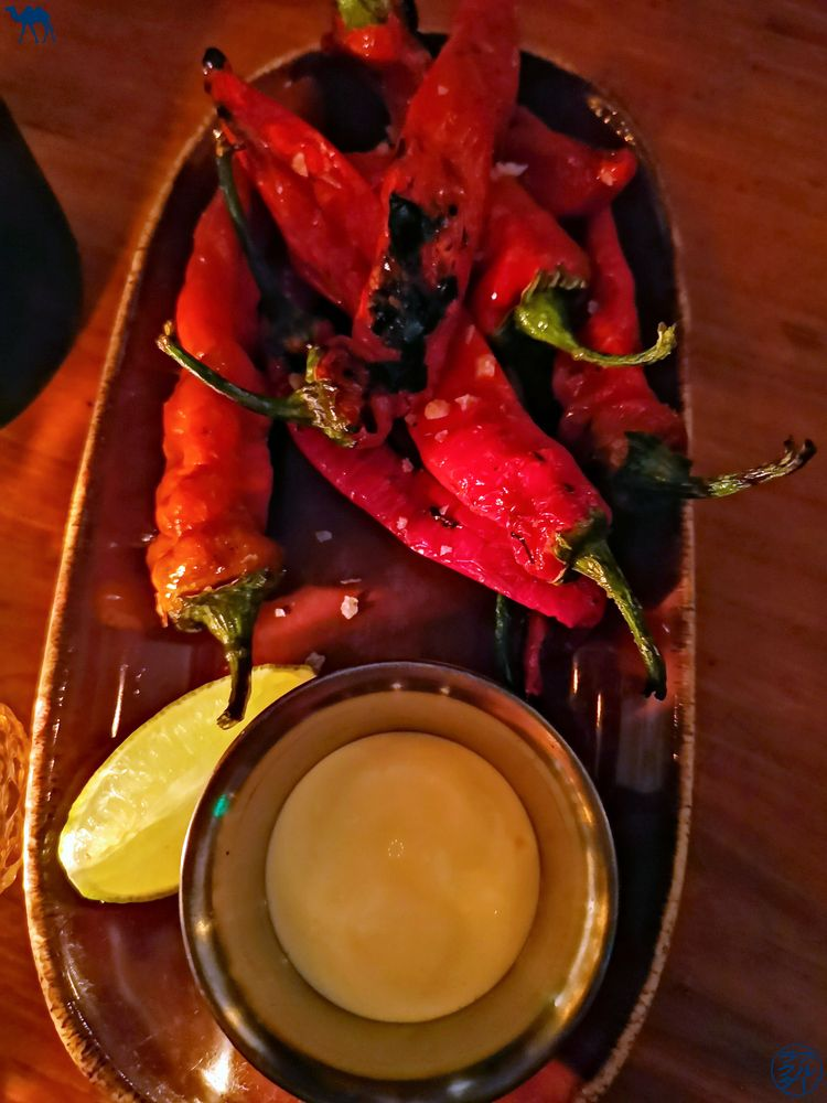 Le Chameau Bleu - Blog Voyage San Francisco - poivron Shishito au restaurant Lolinda de San Francisco