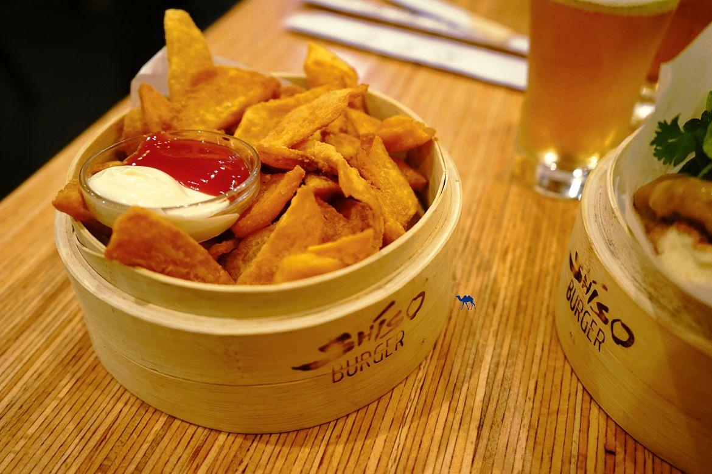 Le Chameau Bleu - Frite de patate douce du Shiso Burger - Restaurant Paris - Burger nippon