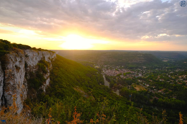 Le Chameau Bleu - Blog Voyage et Cuisine - Coucher de Soleil Roc d'Anglars - Tarn et Garonne