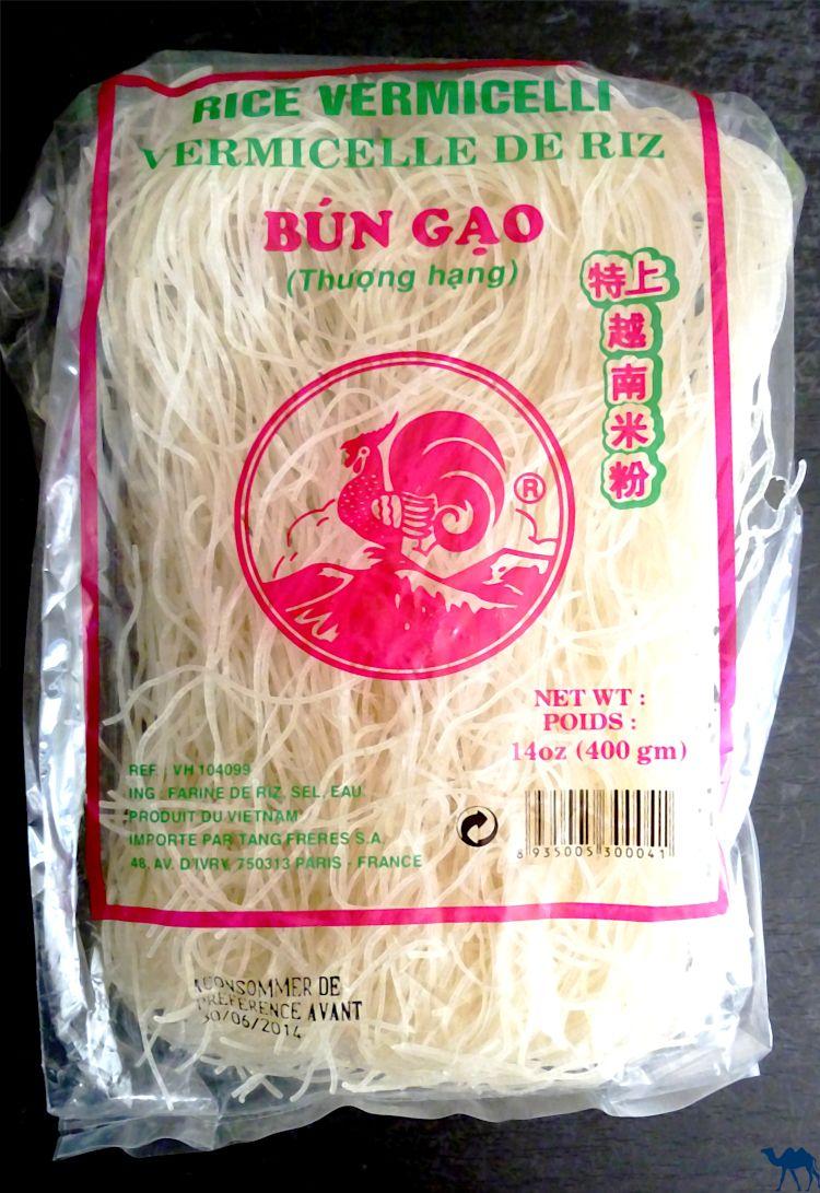 Le Chameau Bleu - Blog Recette asiatique - Rouleau de Printemps la recette - Vermicelles de Riz