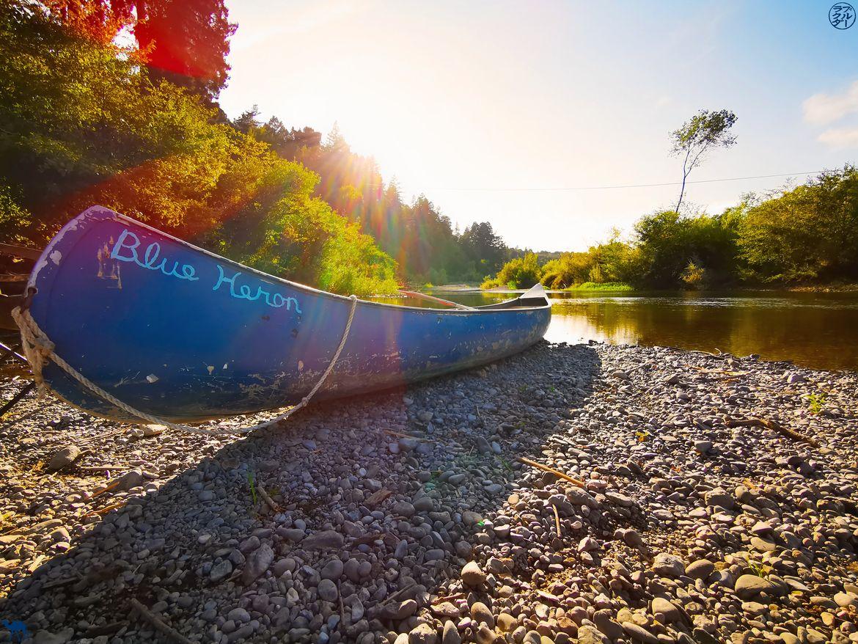 Le Chameau Bleu - Blog Voyage Napa Valley - Canoe à Russian RIver