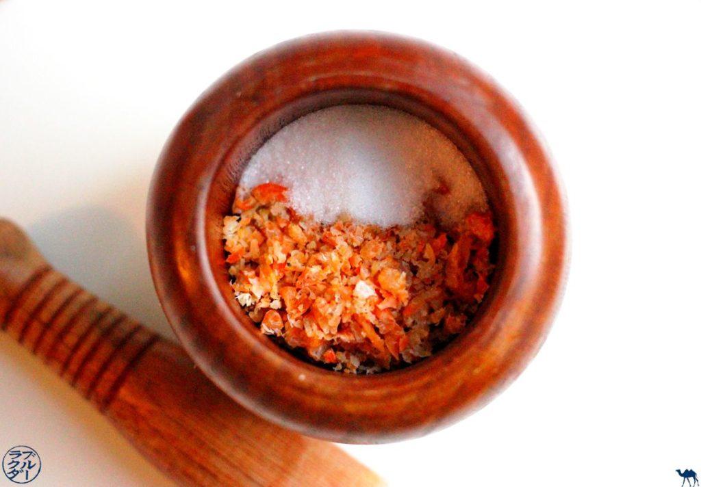 Le Chameau Bleu - Blog Voyage et Gastronomie - Pate de crevette séchée