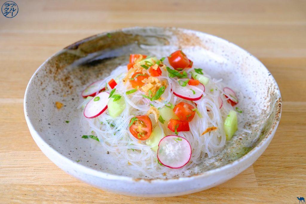Le Chameau Bleu - Blog de Cuisine et Voyage - Recette estivale - Salade de Vermicelle de Soja