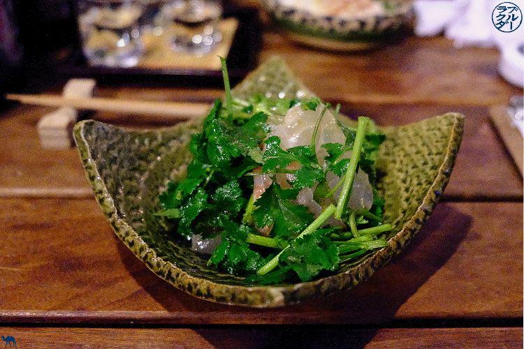 Le Chameau Bleu - Isakaya Roppongi Tokyo Ukyo - Salade de coriandre
