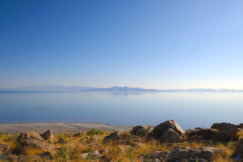 Le Chameau Bleu - Blog Voyage Utah - Paysage de Antelope Island
