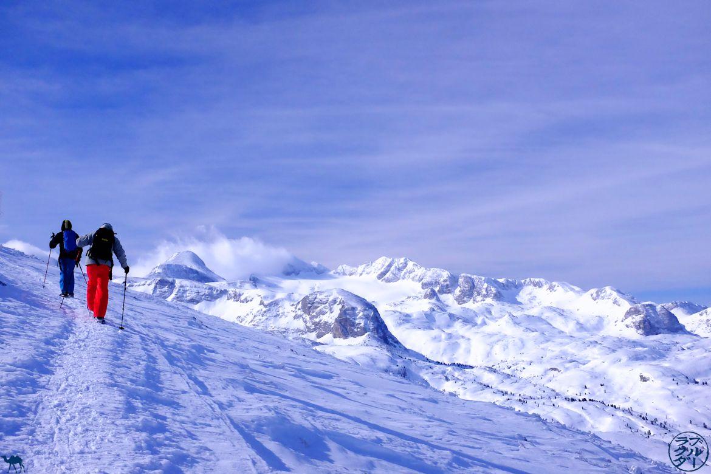 Le Chameau Bleu - Voyage en Autriche - Randonnée en Raquette dans le Dachstein Krippenstein