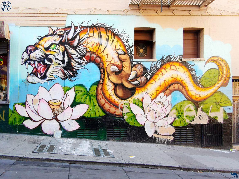 Le Chameau Bleu - Blog Voyage San Francisco - Street Art Dragon à Chinatown