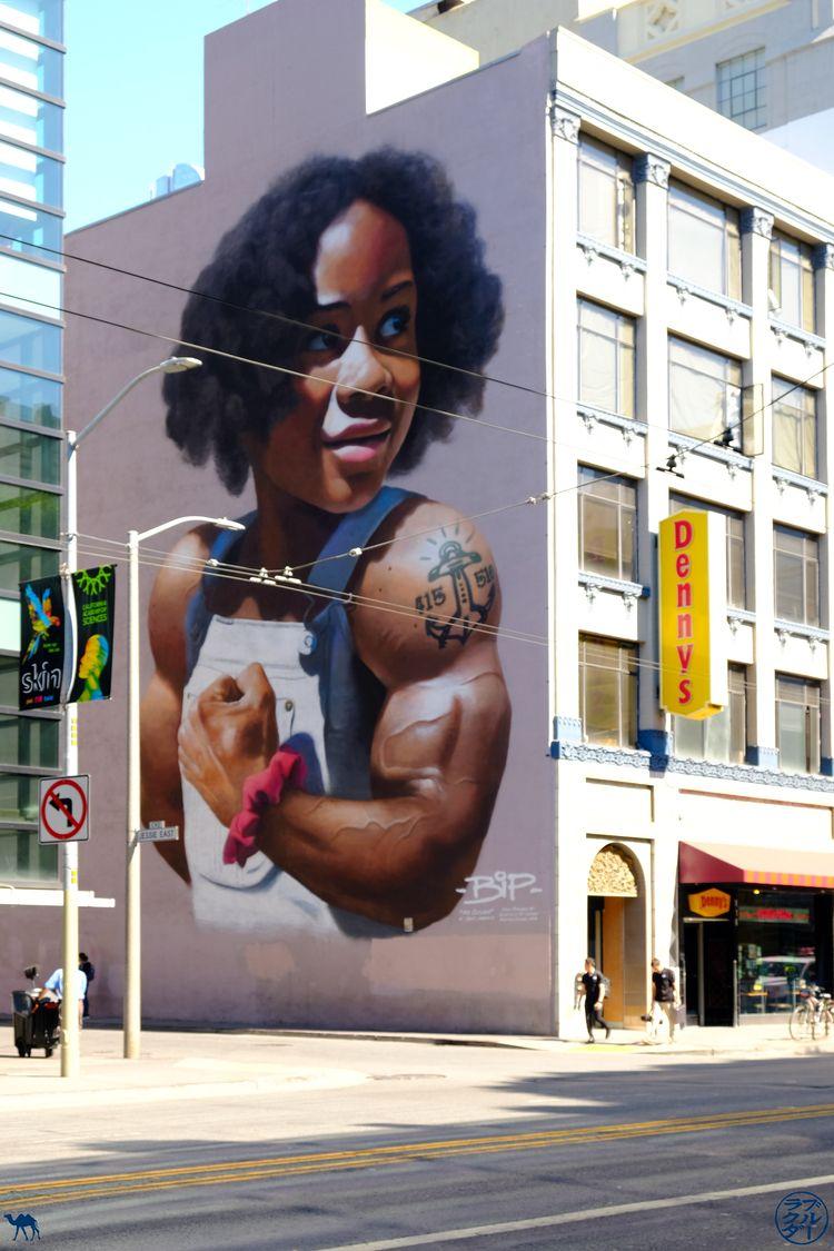 Le Chameau Bleu - Blog Voyage San Francisco - Street Art Artiste BIP