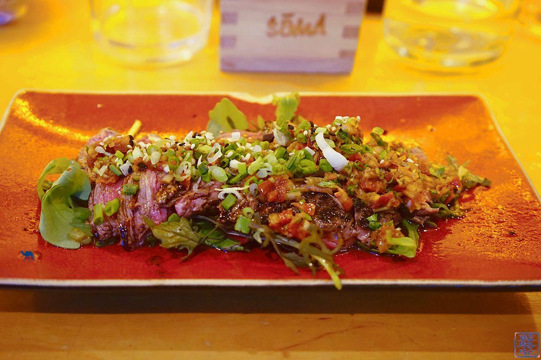 Le Chameau Bleu - Blog Gastronomie Soma - Bar a tapas japonais à paris - Le Soma- Tataki de black Angus