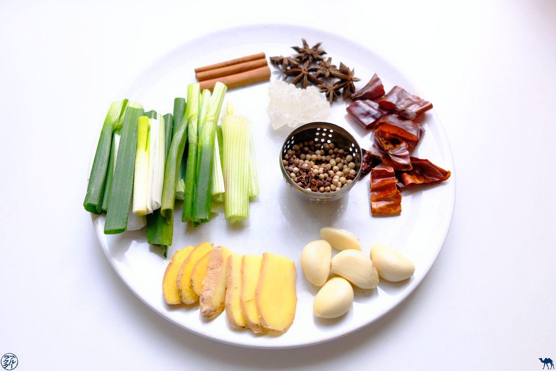 Le Chameau Bleu - Blog Cuisine et Voyage - Soupe taïwanaise de Nouilles au boeuf - Ingrédients