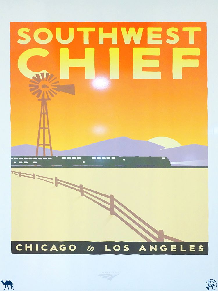 Le Chameau Bleu - Blog Voyage Amtrak - Affiche du Southwest Chief Train