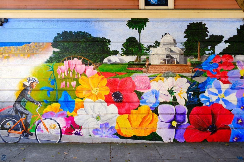 Le Chameau Bleu - Blog Voyage San Francisco - Street Art Fleur