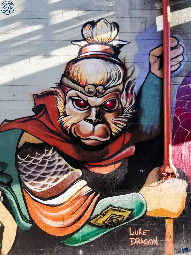 Le Chameau Bleu - Blog Voyage San Francisco - Street Art Roi des singes