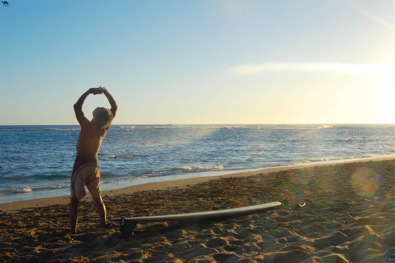 Le Chameau Bleu - Blog Voyage Hawaii -Surfeur au soleil