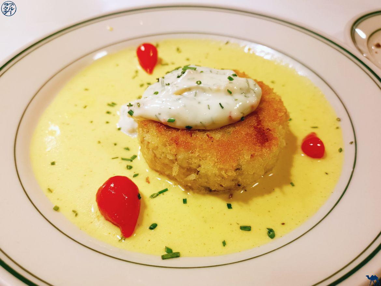 Le Chameau Bleu - Blog Voyage à San Francisco - Cake Crab du Restaurant Tadich Grill