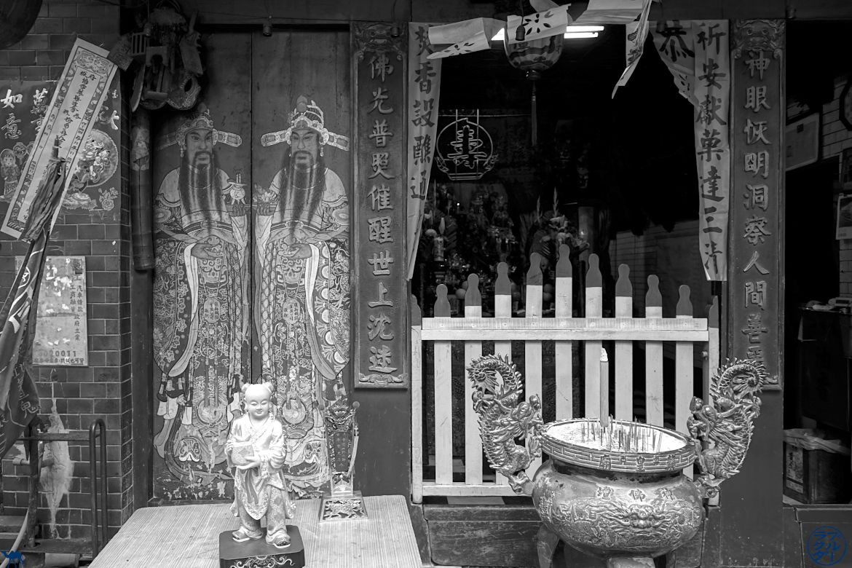 Le Chameau Bleu - Blog Voyage Tainan - Entrée Temple