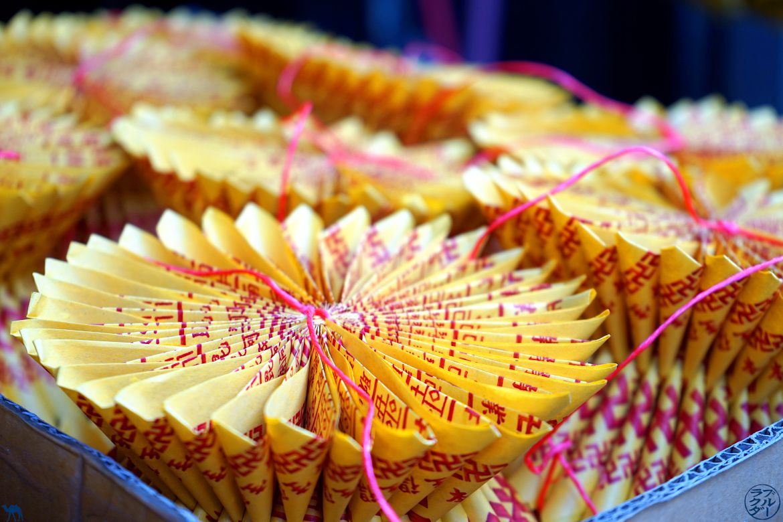Le Chameau Bleu - Blog Voyage Taiwan - Offrande Temple Tainan