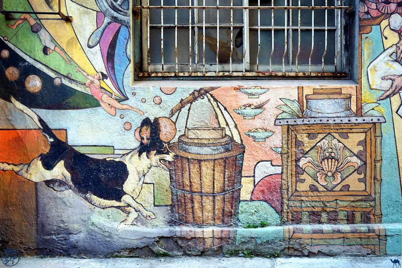 Le Chameau Bleu - Blog Voyage Tainan Taiwan - Street Art