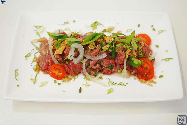 Le Chameau Bleu - Blog Cuisine asiatique et Voyage - Recette asiatique tartare de boeuf vietnamien et herbes aromatiques