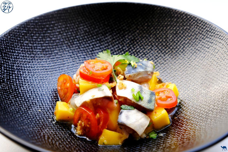 Le Chameau Bleu - Blog Cuisine et Voyage - Recette estivale de Tartare de Maquereau à la mangue et gingembre - Tartare de poisson exotique