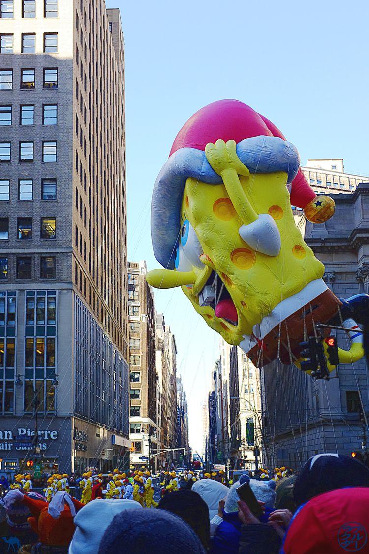 Le Chameau Bleu - Blog Voyage New York City - Bob l'éponge à la Parade de Thanksgiving de New York