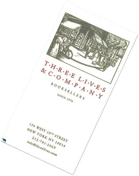 Voyage à New York- USA - Carte de visite de 3 lives and Co - Le Chameau bleu