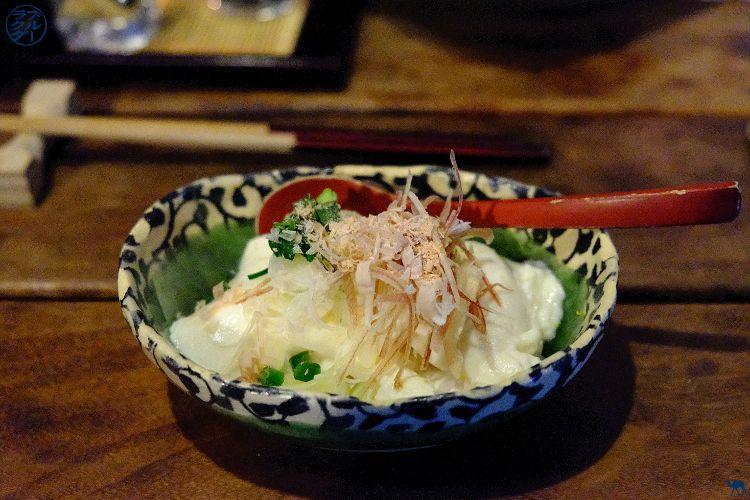 Tofu Maison de Ukyo Isakaya a Roppongi Tokyo - Le Chameau Bleu voyage au Japon