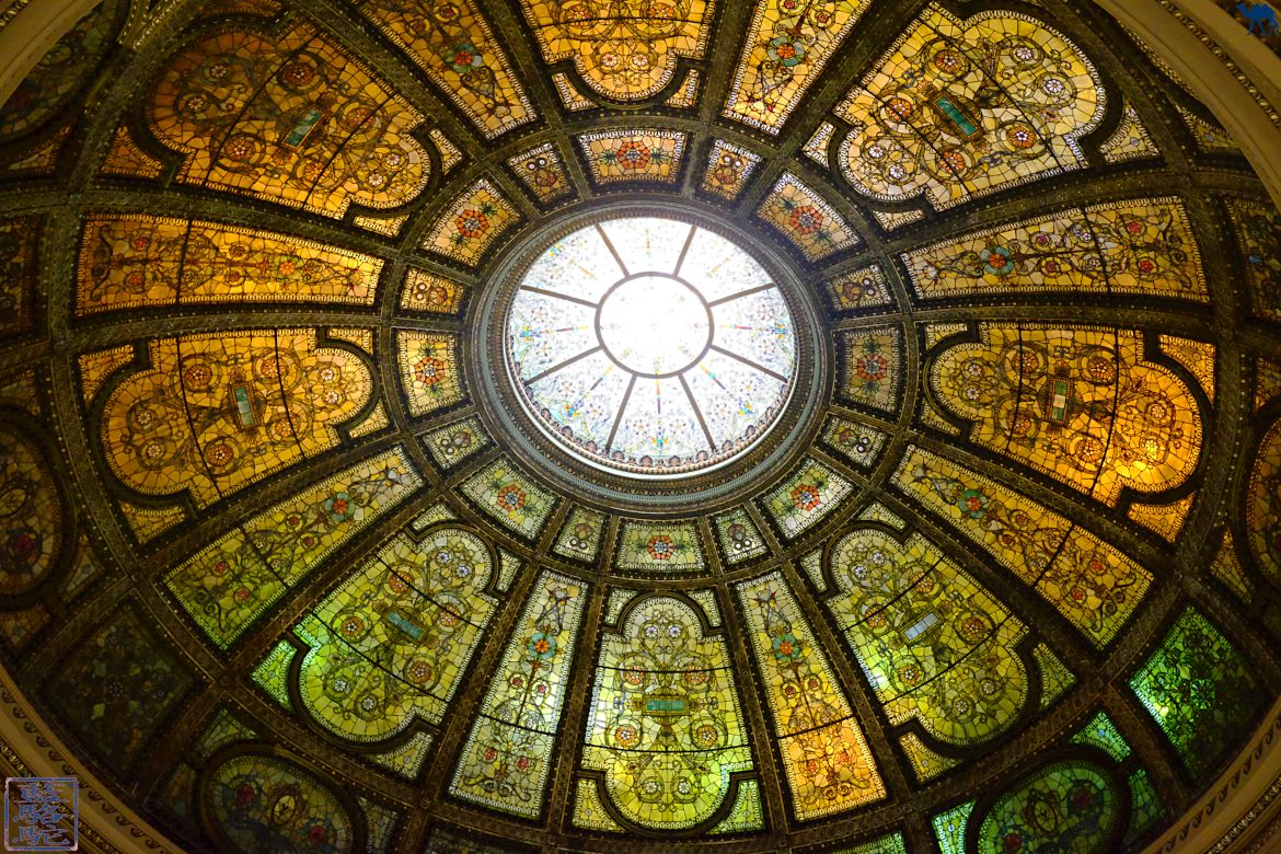 Le Chameau Bleu - Blog Voyage Chicago USA - Vacances à Chicago - Dome du Chicago Cultural Center