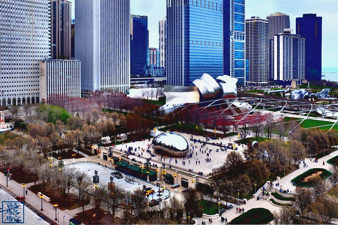 Le Chameau Bleu - Blog Voyage Chicago -The Cloud Gate AKA The Bean from Ansih Kapoor - Vacances Chicago