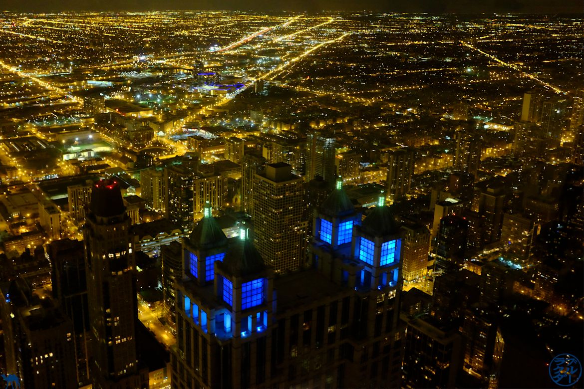 Le Chameau Bleu - Blog Voyage Chicago USA - Chicago by night