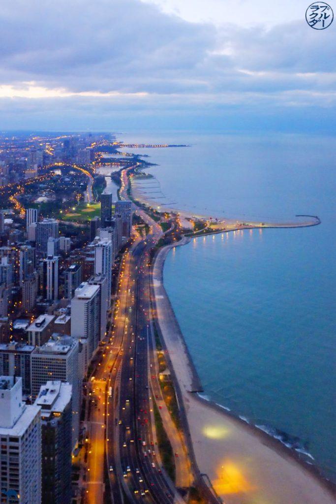 Le Chameau Bleu - Blog Voyage Chicago -Vue sur le chemin parcouru depuis la North Avenue Beach