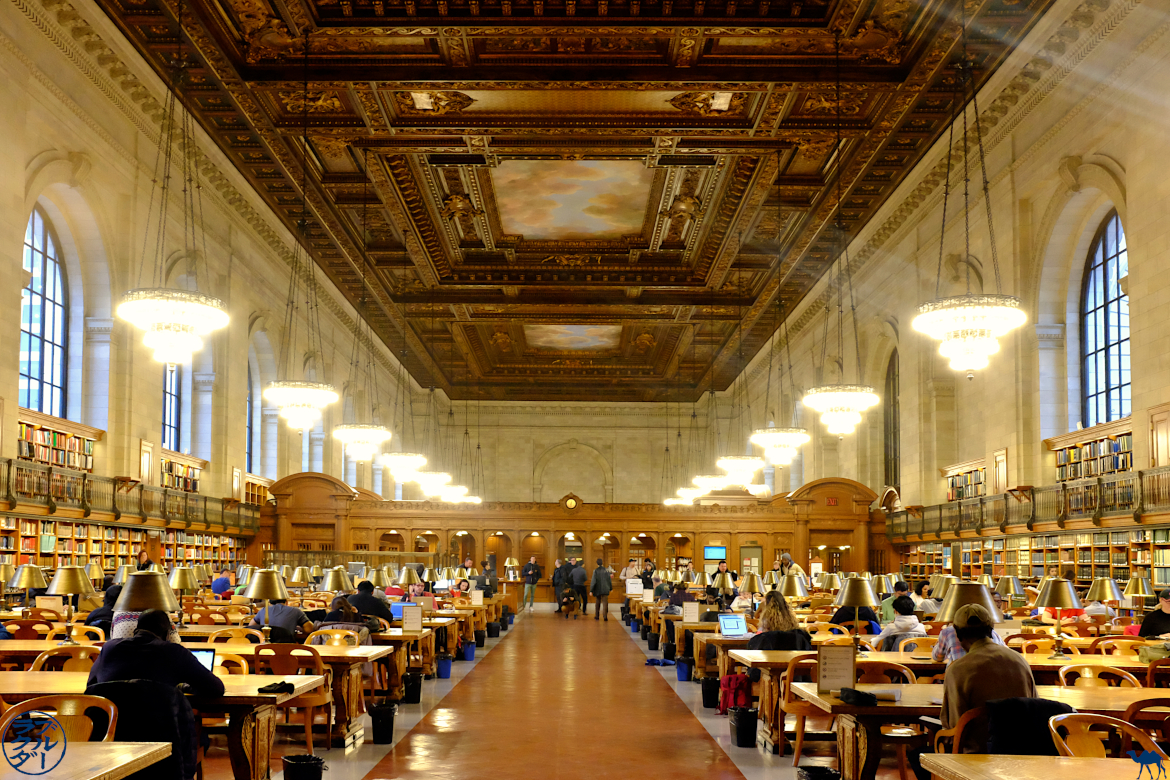 Le Chameau Bleu - Blog Voyage New York City La Rose Main Reading Room - NYPL