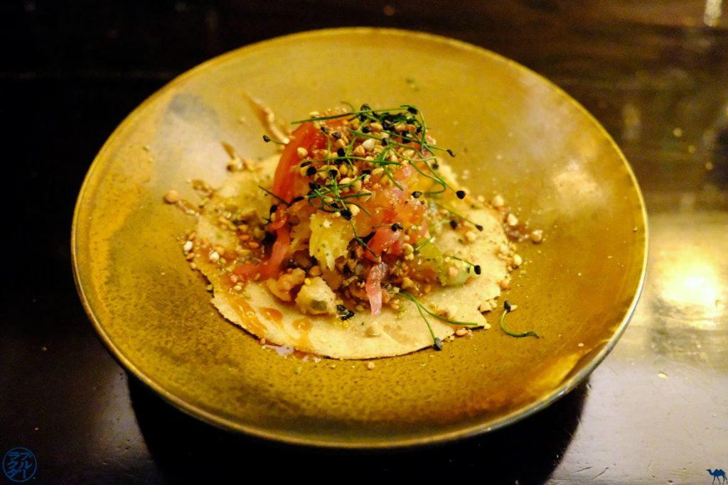 Le Chameau Bleu - Blog Voyage et Gastronomie - Tacos Porcelet Chez Uma Paris Restaurant gastronomique Nikkei