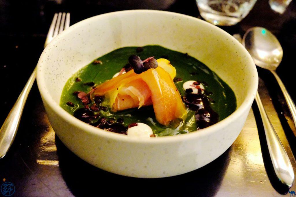Le Chameau Bleu - Blog Voyage et gastronomie - Uma Restaurant Nikkei Paris - Espadon fumé et nage de cresson