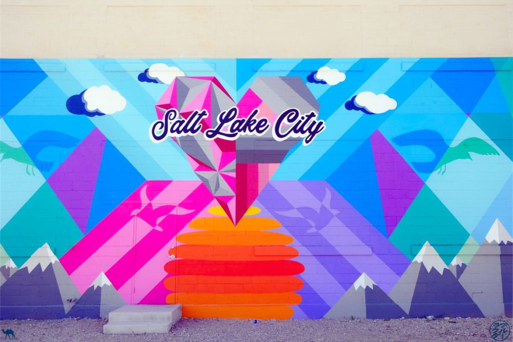 Le Chameau Bleu - Blog Voyage Utah USA - Street Art Mur Salt Lake City