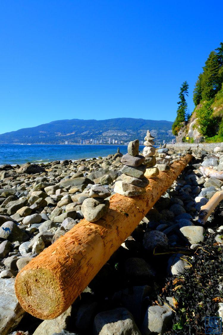 Le Chameau Bleu - Blog Voyage Vancouver Canada - Galets de Stanley Park - Vancouver